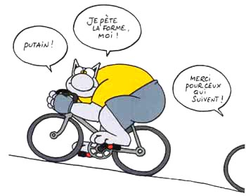 L'aspect félin du cycliste