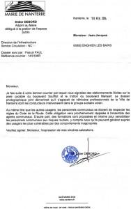 Nanterre 2014-02-21 réponse station. PC Soufflot.